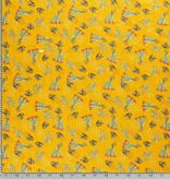 Nooteboom Textiles Katoen / Viscose Print Cactussen Yellow