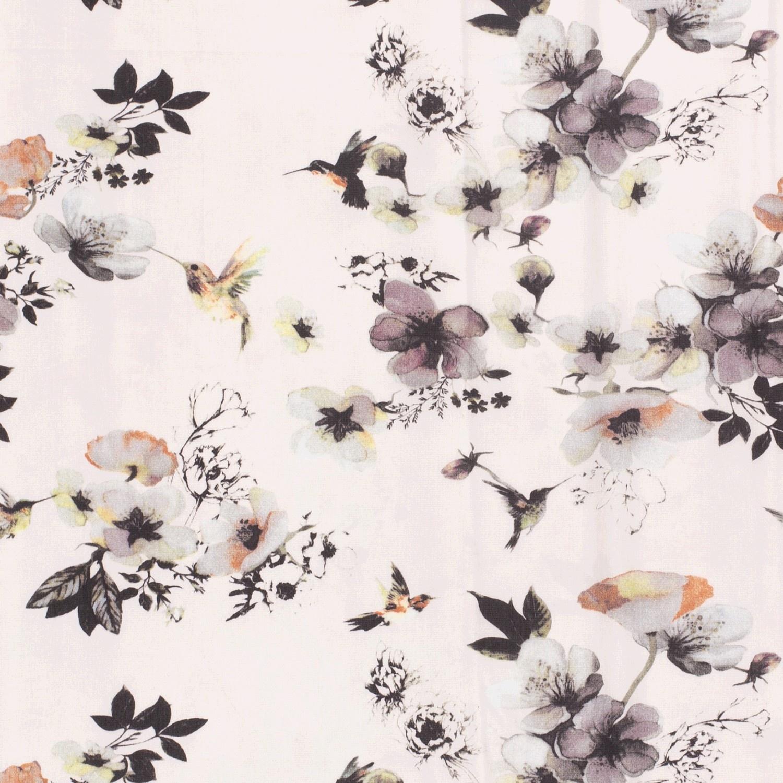 Nooteboom Textiles Polyester Peach Print Flower