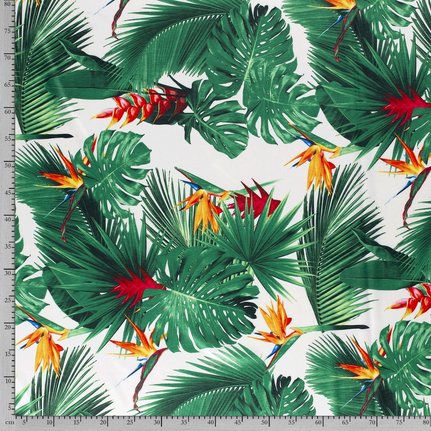 Nooteboom Textiles Stretch Satijn Flowers & Leaves