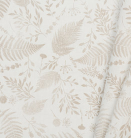 Katoen Poplin Stamp Garden Light Taupe