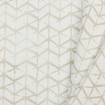 Katoen Poplin Chevron Hand Draw Light Taupe