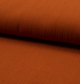 Qjutie Kids Baby Cotton / Mousseline Uni / Effen Cognac