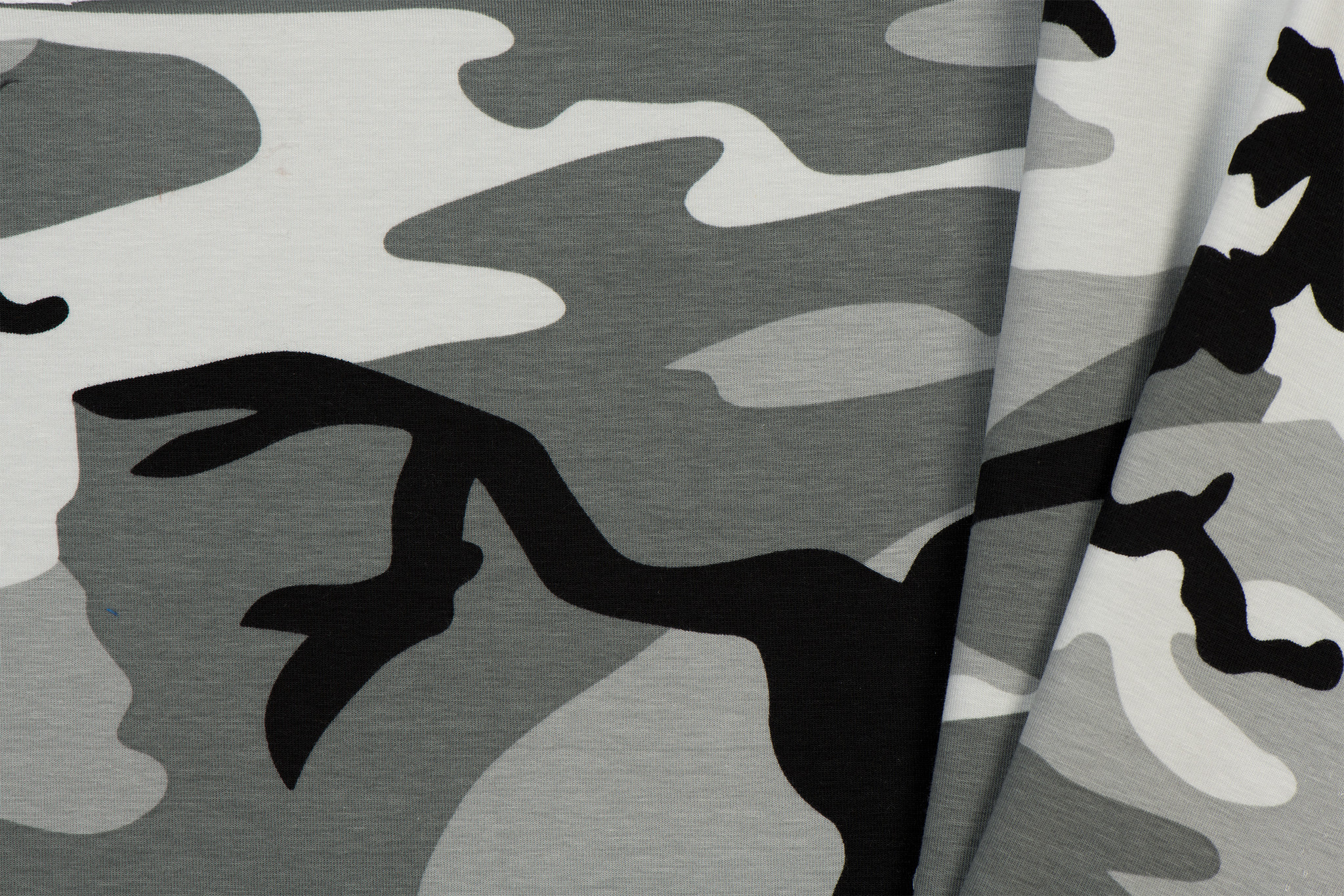 Tricot Stof Camouflage 03