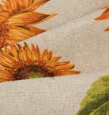Deco Stof 280 cm Linnenlook Sunflowers