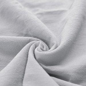 Washed Cotton Uni / Effen Zilver Grijs