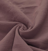 Washed Cotton Uni / Effen Oud Mauve