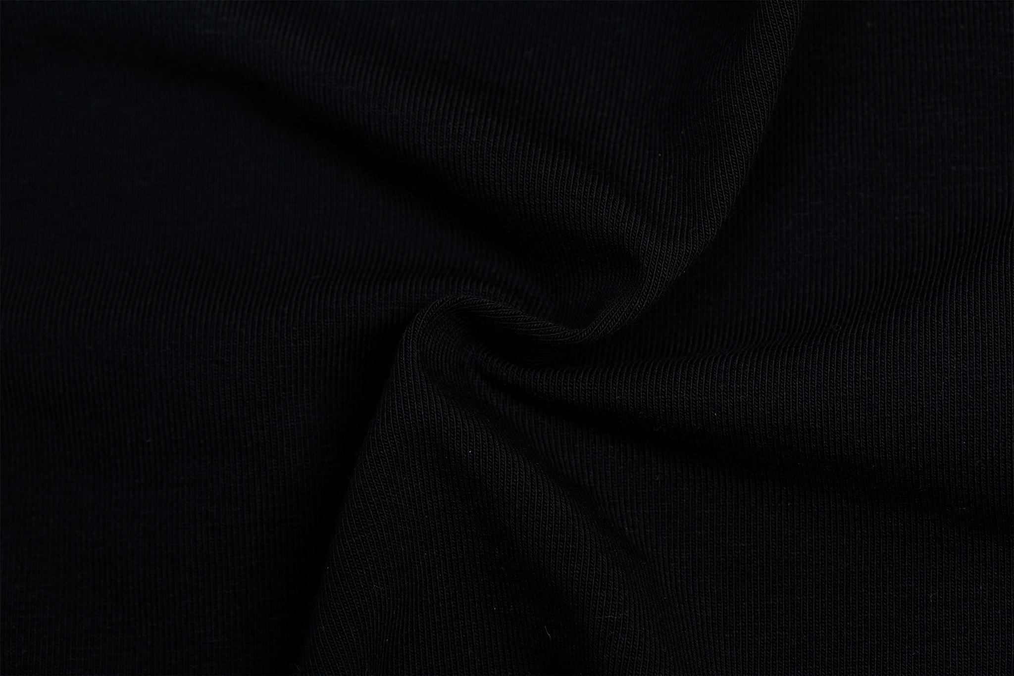 by Poppy designed for you GOTS Jersey Uni / Effen Deep Black