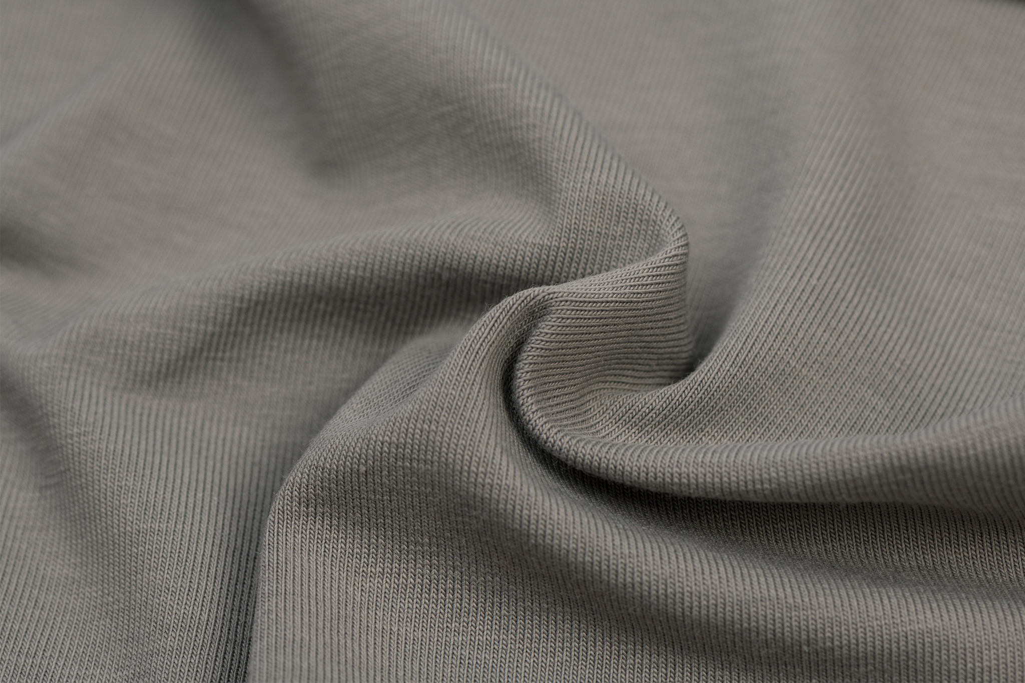 by Poppy designed for you GOTS Jersey Uni / Effen Grey