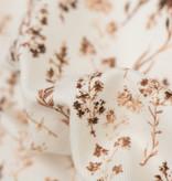 Poplin Katoen Digitale Print - Gedroogde Bloemen Licht Bruin