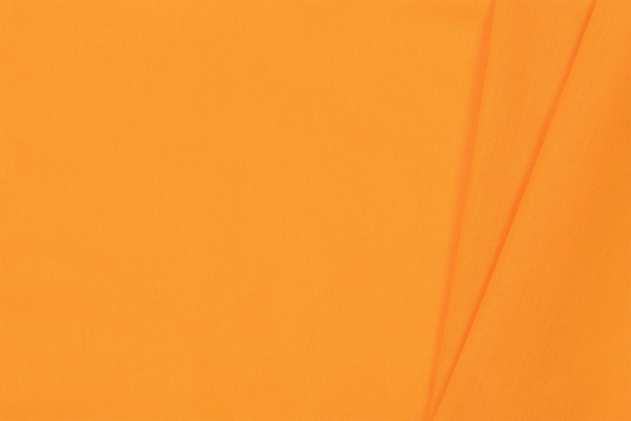 Uni katoen stof, licht oranje