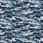 by Poppy designed for you Katoen Poplin Army Camouflage Blue