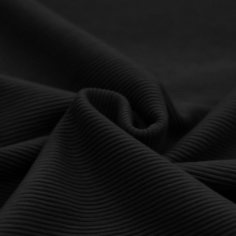 Ottoman Rib Jersey Stof Black