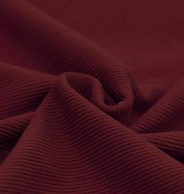 Ottoman Rib Jersey Stof Bordeaux