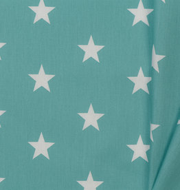 by Poppy designed for you Katoen Poplin Stars Old Green