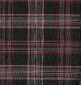 Schotse Ruit / Tartan Check Stretch Grey / Rose