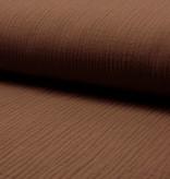 Qjutie Kids Baby Cotton / Mousseline Uni / Effen Bruin
