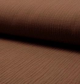 Qjutie Kids Baby Cotton / Mousseline Uni / Effen Licht Bruin