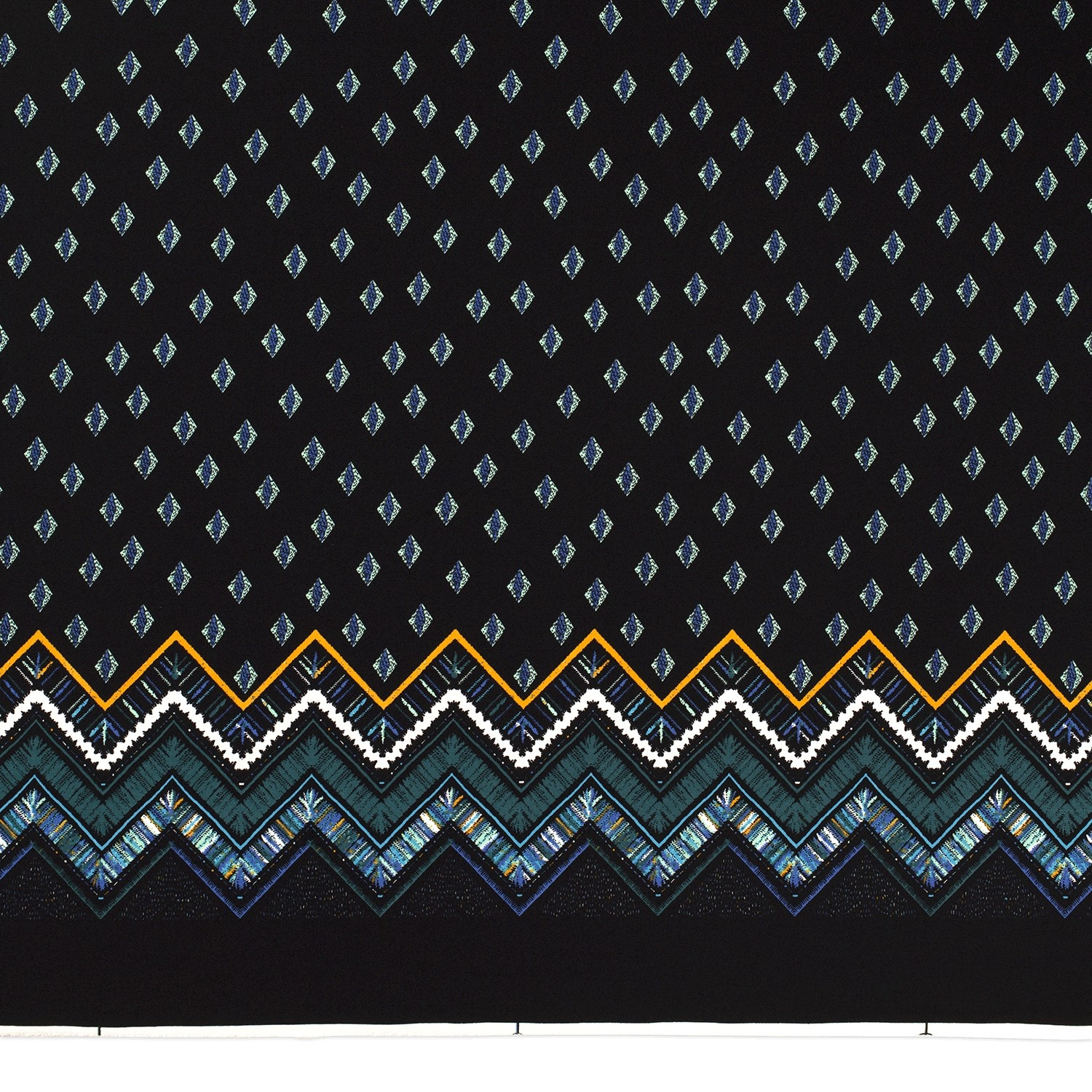 Nooteboom Textiles Jersey Printed Abstract Petrol