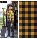 Nooteboom Textiles Knitted Fabric Checks Oker