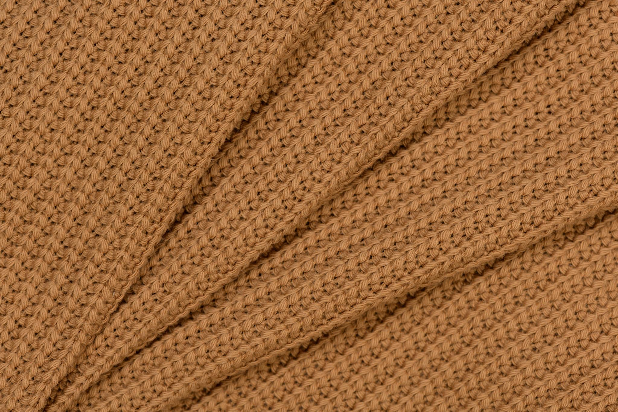 Gebreide stof, Big Knit Cable Camel