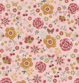 by Poppy designed for you Katoen Poplin Happy Feelings Light Old Rose