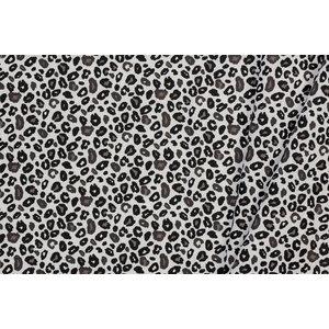 Katoen Leopard Off White / Black