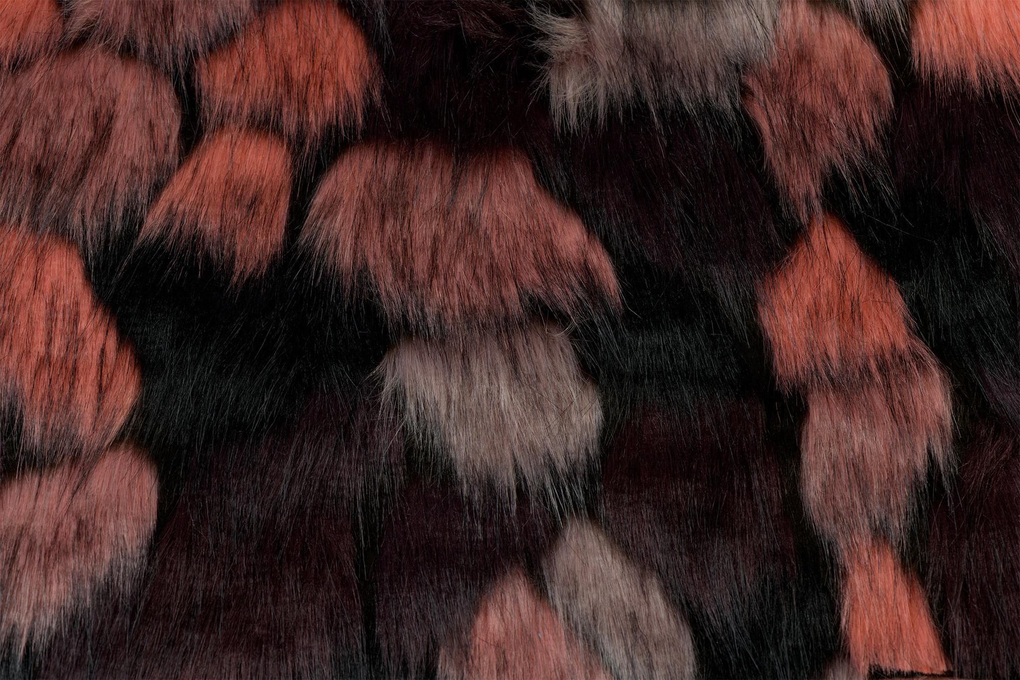 Imitatiebont Zwart / Gekleurd