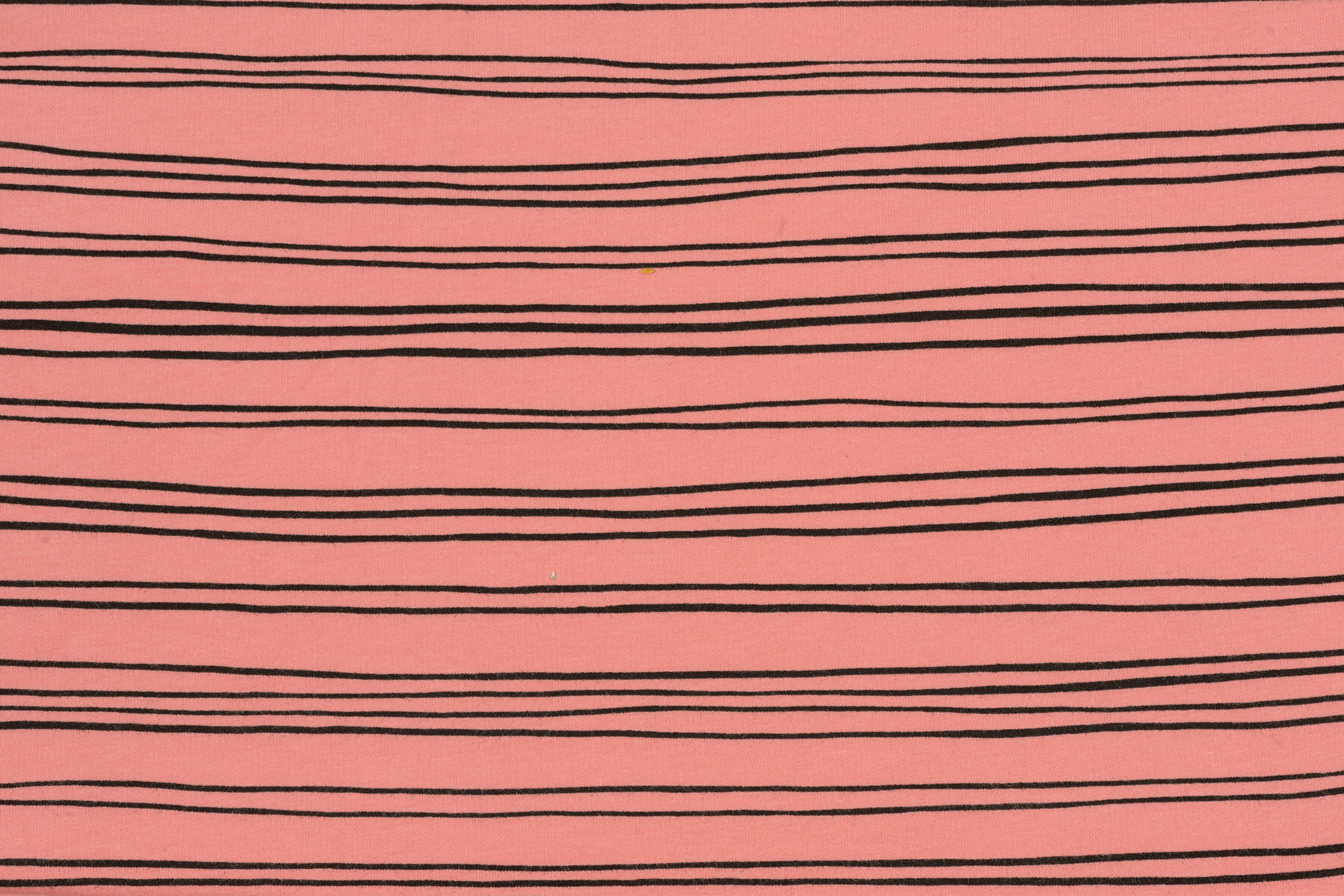 by Poppy designed for you GOTS French Terry Brushed Stripes Old Rose