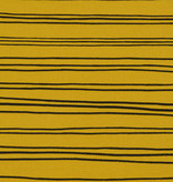 by Poppy designed for you GOTS French Terry Brushed Stripes Mustard
