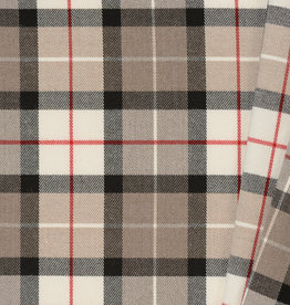 Schotse Ruit / Tartan Check Stretch Taupe
