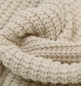 Gebreide stof, Big Knit Cable Light Beige
