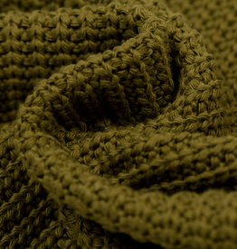 Gebreide stof, Big Knit Cable Moss Green