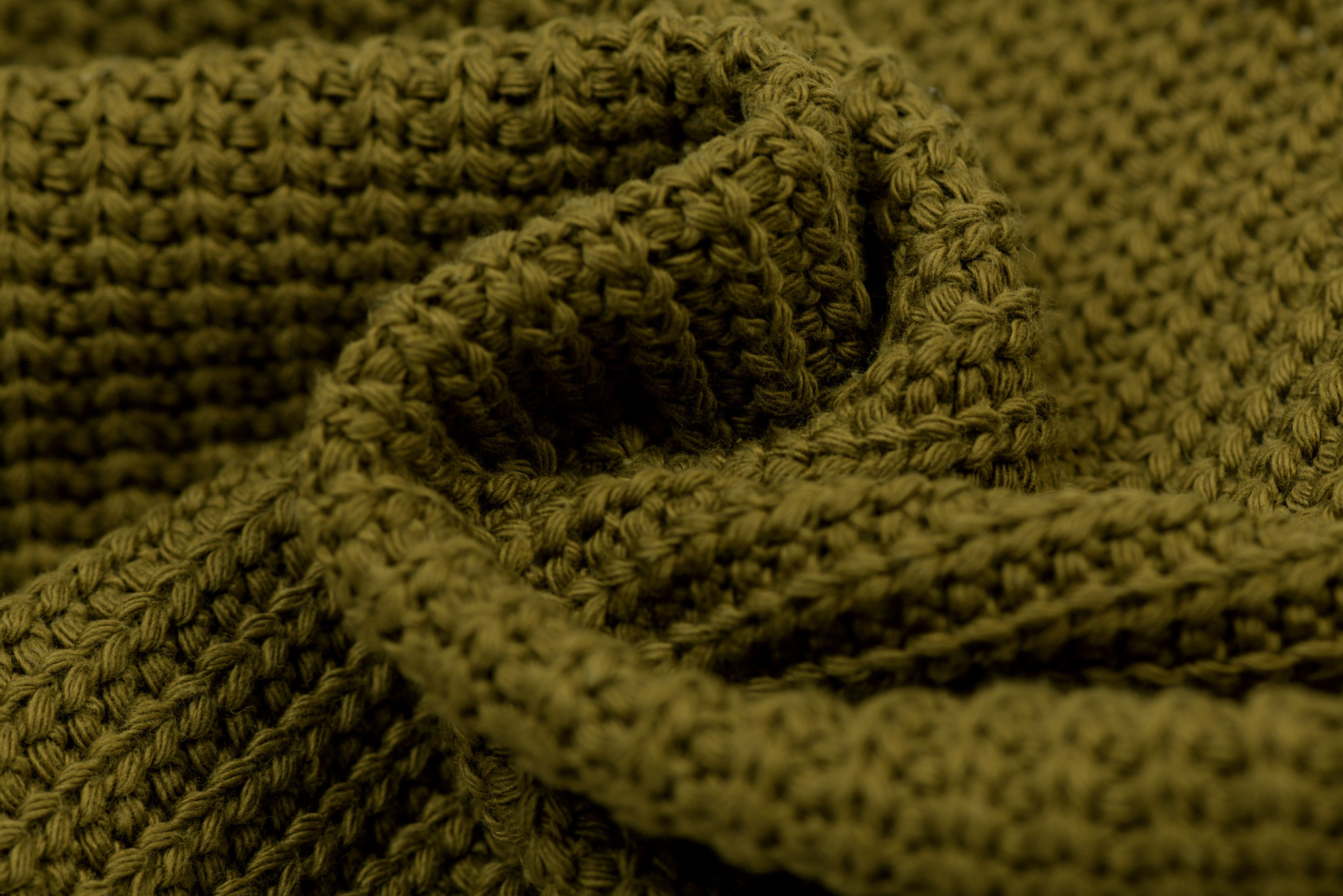 Gebreide stof, Big Knit Cable Moss Green