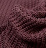 Gebreide stof, Big Knit Cable Dark Oud Mauve