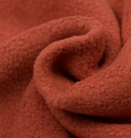 Fleece Katoen Rust