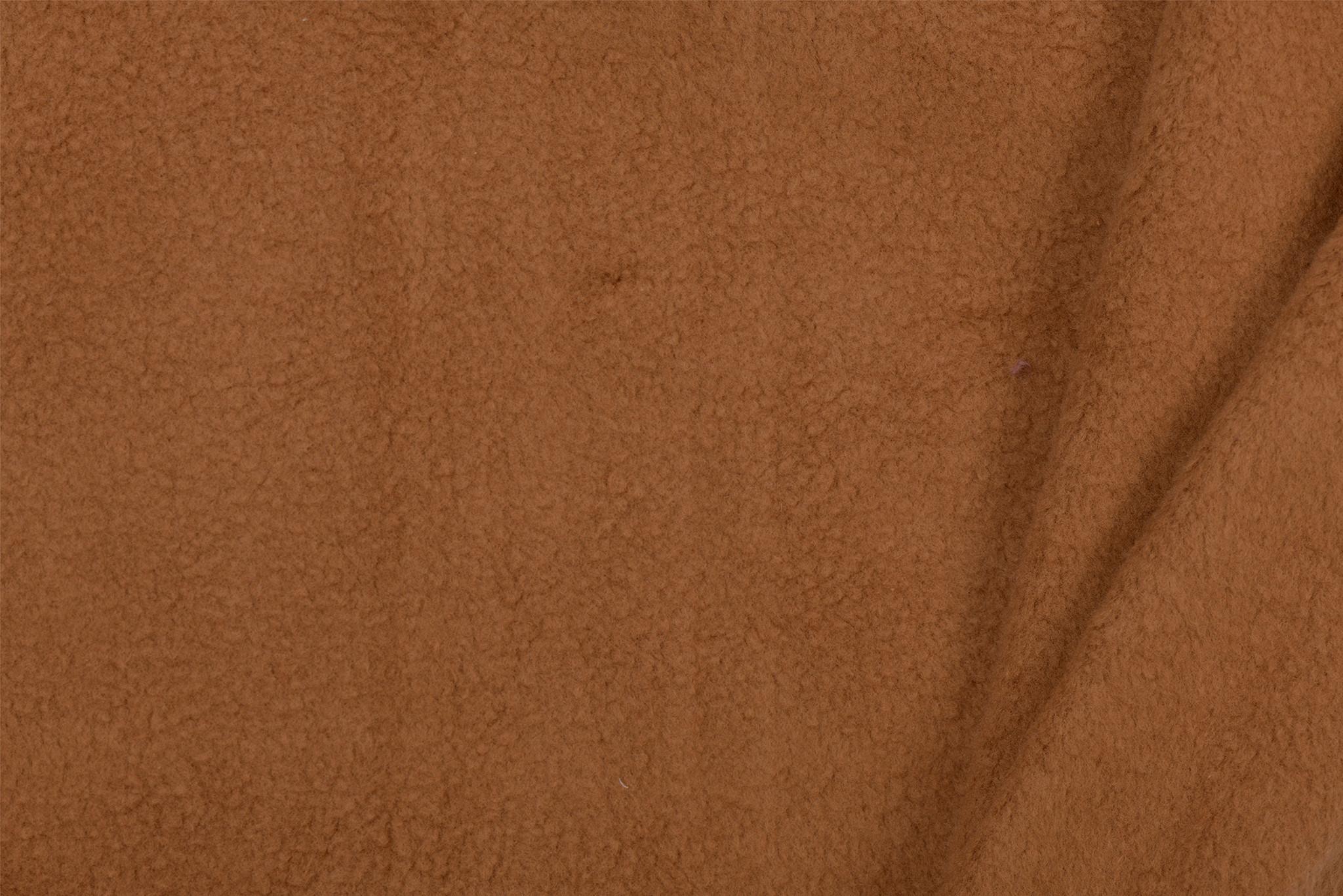 Fleece Katoen Camel