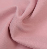 by Poppy designed for you GOTS French Terry Brushed Uni / Effen Rose