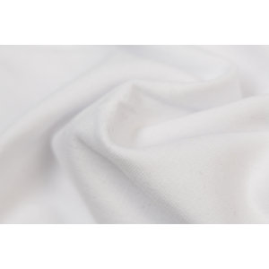 by Poppy designed for you GOTS French Terry Brushed Uni / Effen White