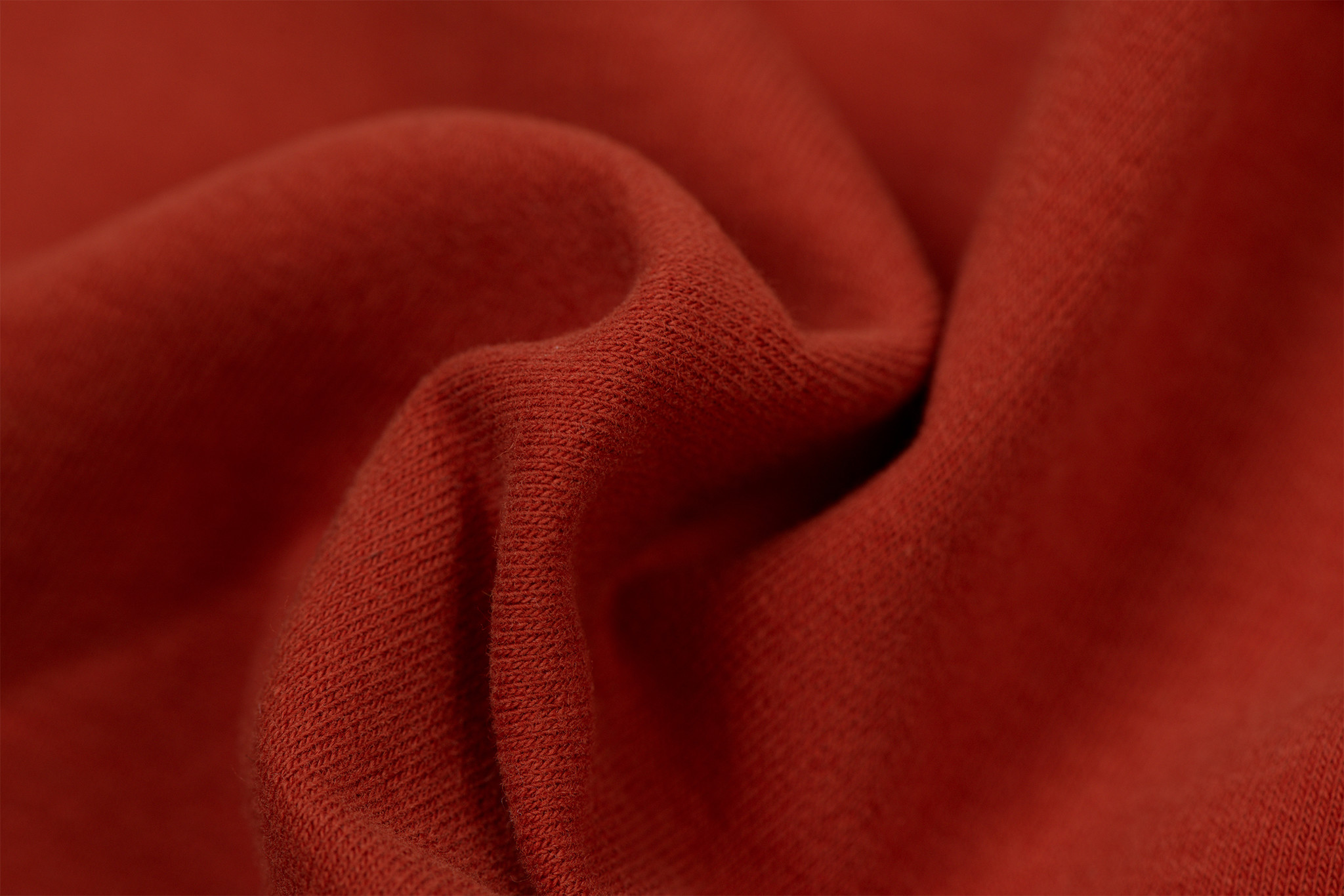 by Poppy designed for you GOTS French Terry Brushed Uni / Effen Terra