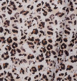 Katoen Poplin Leopard Animal Skin
