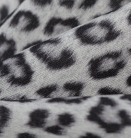 Katoen Poplin Leopard Animal Grey