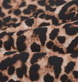 Katoen Poplin Leopard Animal