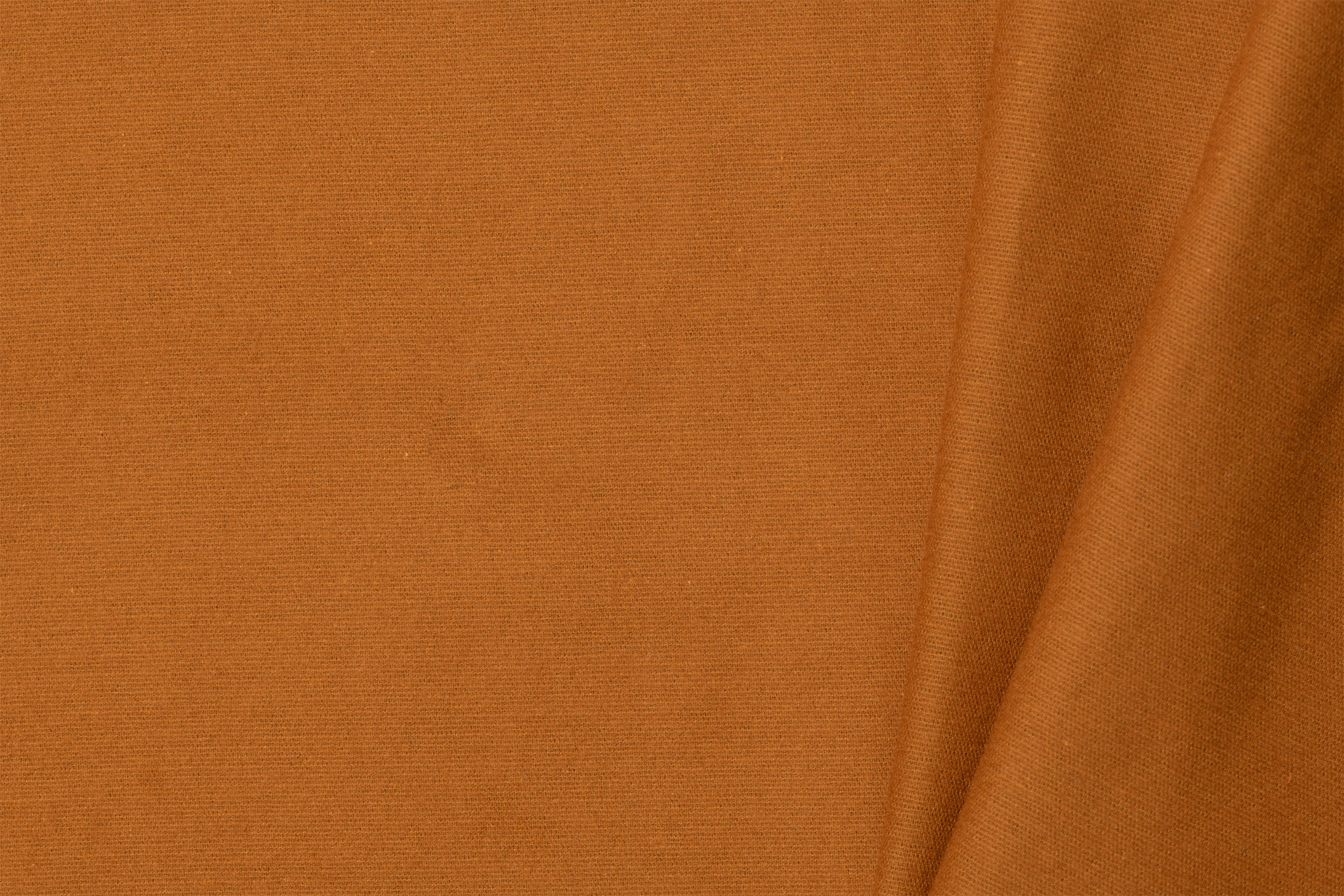 by Poppy designed for you Cotton Flanel Uni / Effen Cognac