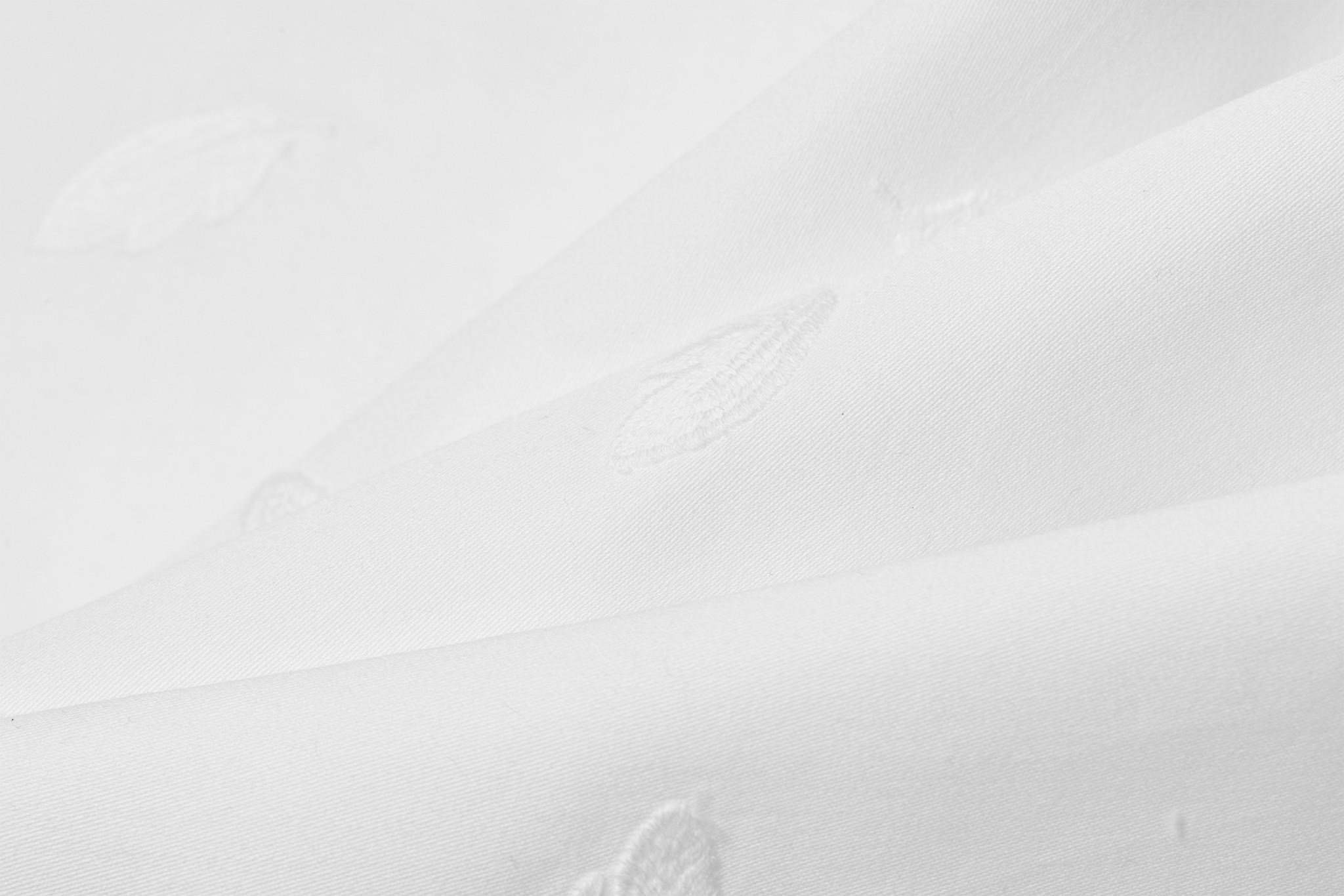 Qjutie Kids Cotton Poplin Embroderie Feathers White