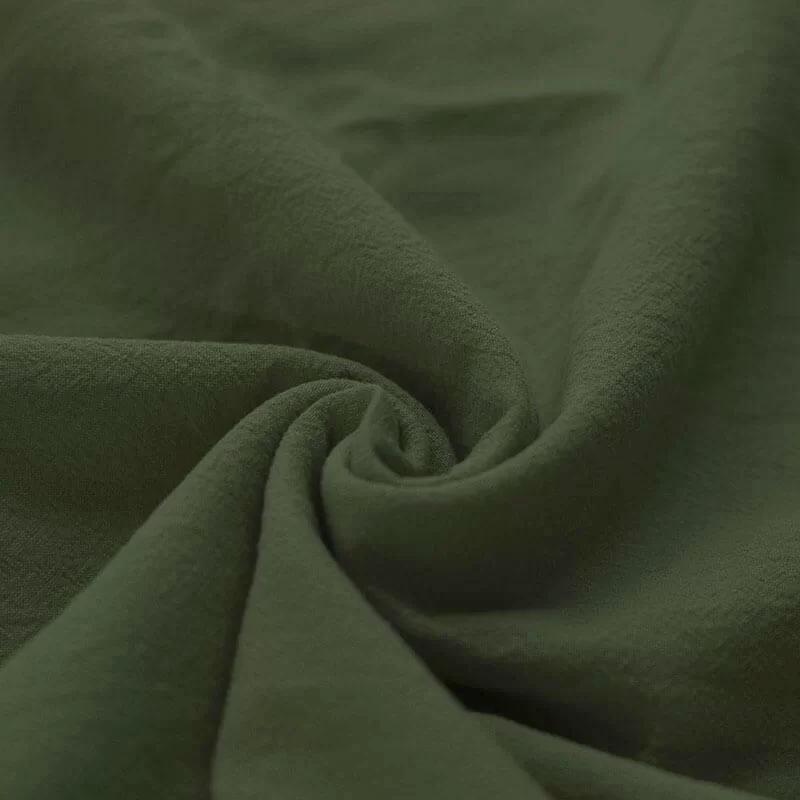 Washed Cotton Uni / Effen Leger Groen