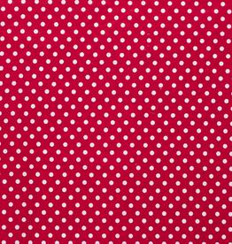 Katoen middel stip rood