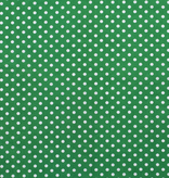 Katoen middel stip groen