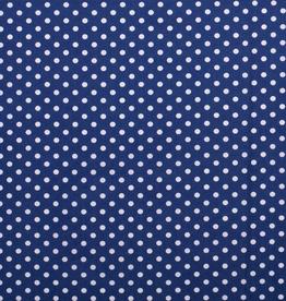 Katoen middel stip blauw