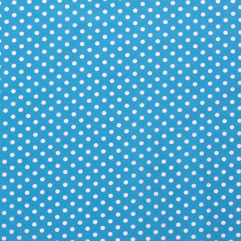 Katoen middel stip turquoise