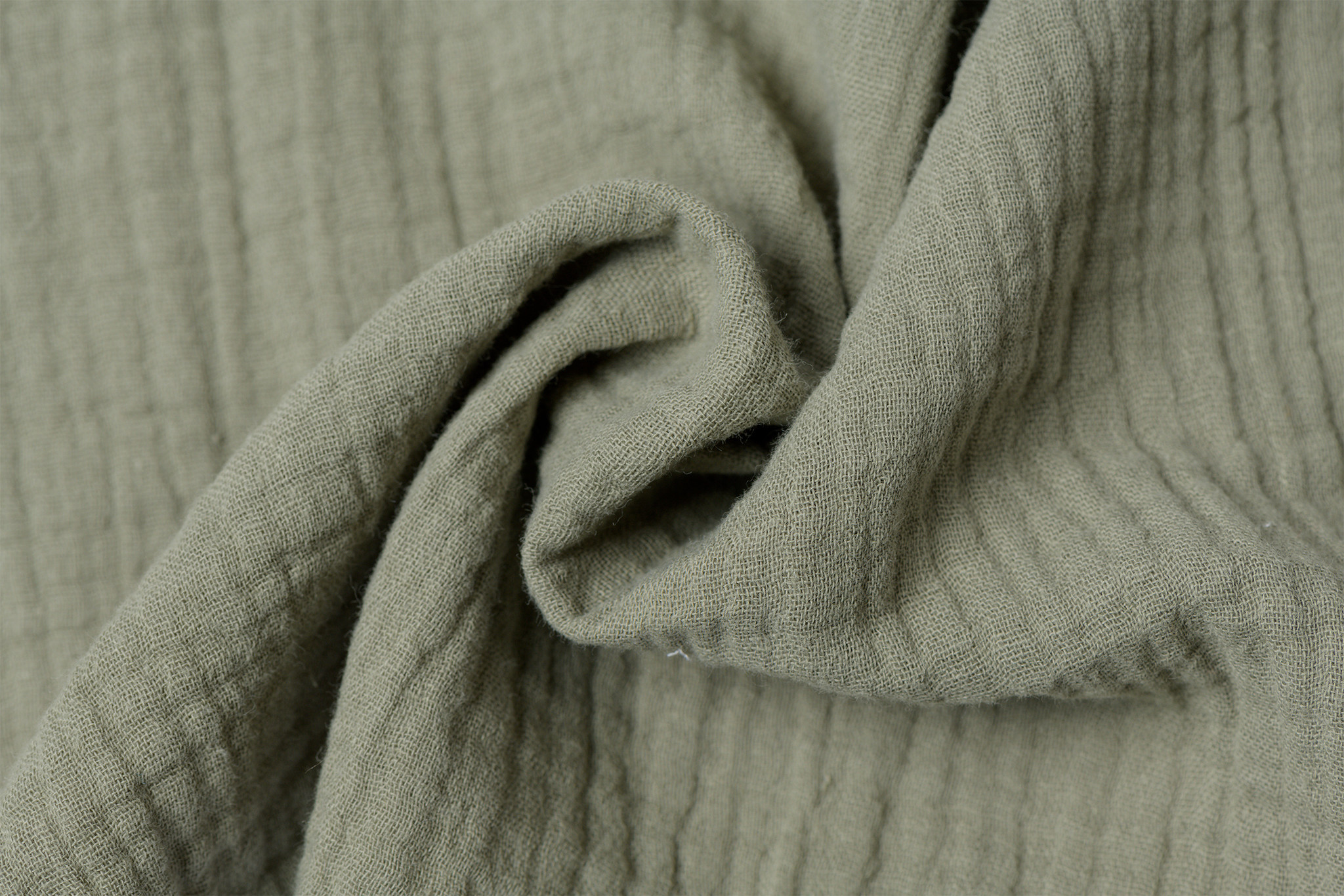 Baby Cotton / Mousseline Uni / Effen Olijf